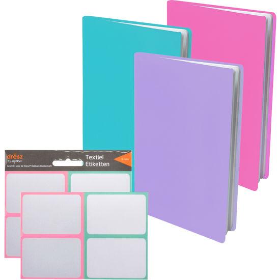 Dresz Flexible Buchumschläge Stretchable Book Cover, 3 Stück