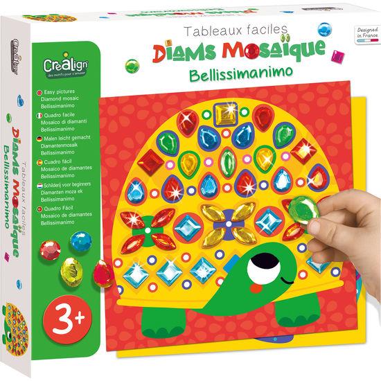 Crealign Diamantenmosaik Bellissimanimo, Bastelset für 6 Stück