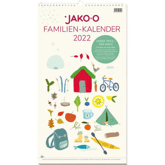 Familienkalender mit Knick 2022 JAKO-O, zum Rückwärts-Blättern